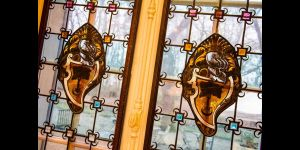 Stained glass windows - Château de l'Hermitage - Pontoise-Ennery